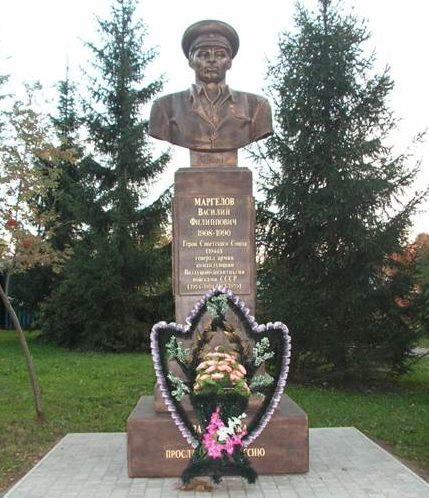 г. Тула. Бюст генерала В.Ф. Маргелова, установленный на одноименной улице.