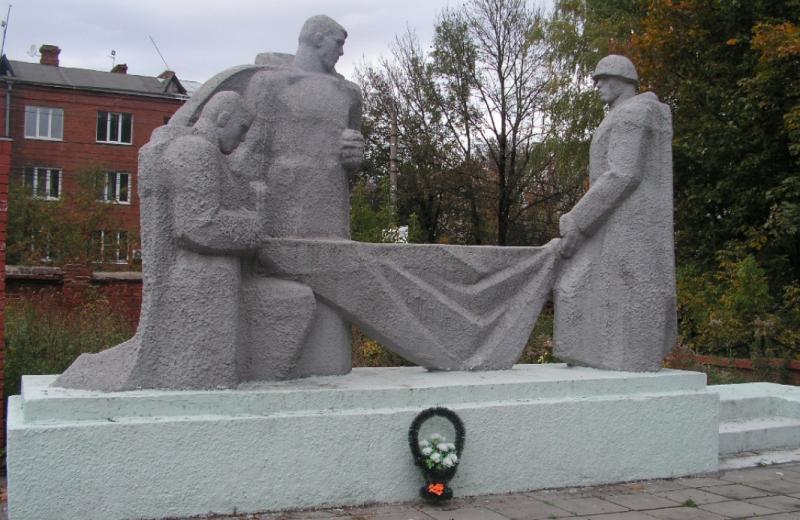 Памятник, воинам, погибших при обороне Тулы в составе Тульского Рабочего полка.