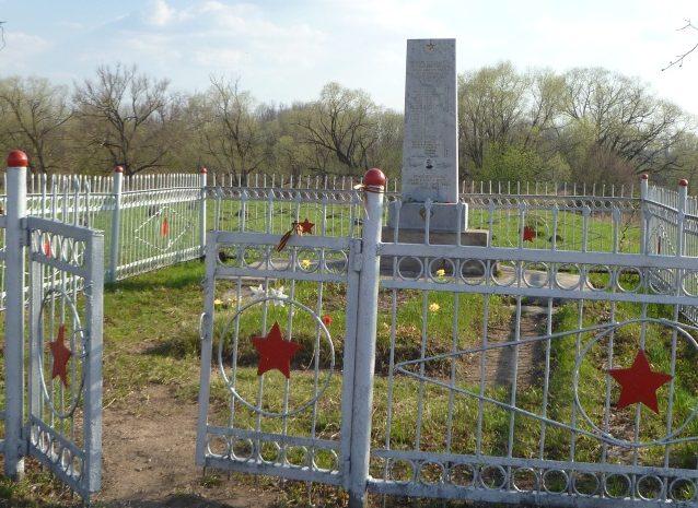 д. Гостеевка Тульского городского округа. Памятник, установленный на братской могиле, в которой похоронены советские воины, погибшие в годы войны.