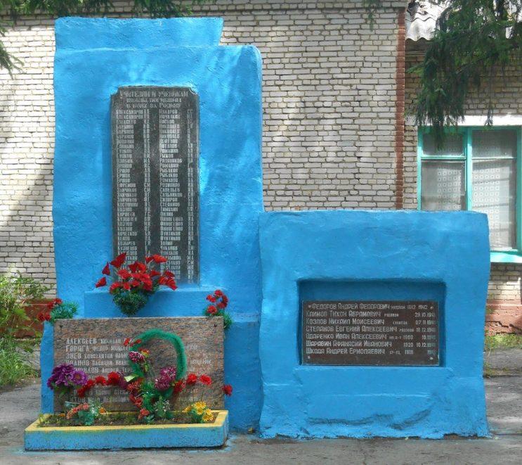 с. Зайцево Тульского городского округа. Памятник школьникам, погибшим в годы войны.