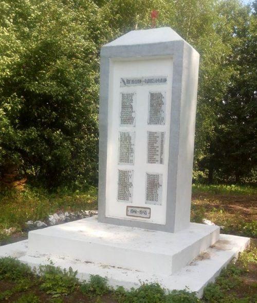 д. Коптево Тульского городского округа. Обелиск с именами погибших односельчан в годы войны.