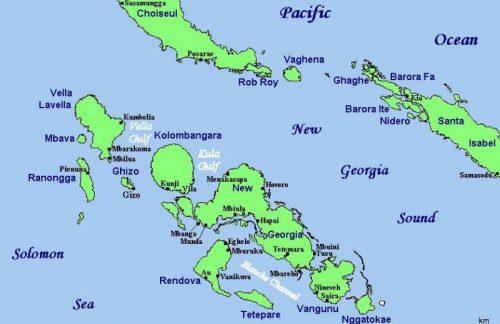 Карта островов архипелага Нью-Джорджия.