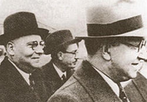 Шеф OVRA (слева) Гвидо Лето.