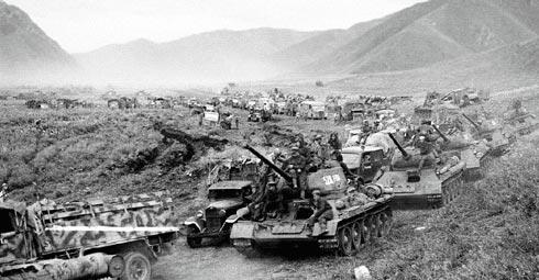 Советская Армия в наступлении.