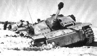Подбитые немецкие танки у Севска.