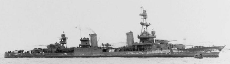 Американский тяжелый крейсер «Солт Лейк Сити».