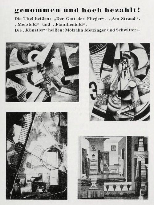 Лист из каталога произведений «вырожденного» искусства.