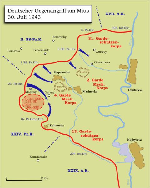 Карта-схема немецкого контрнаступления.