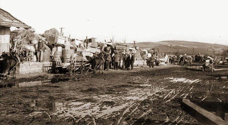 Переселение украинцев из Новоселов в уезд Санок. Март 1946 г.