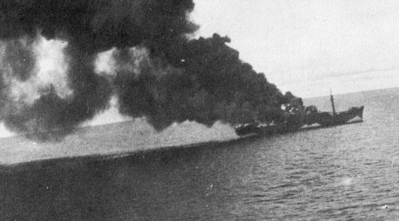 Пылающие японские корабли.