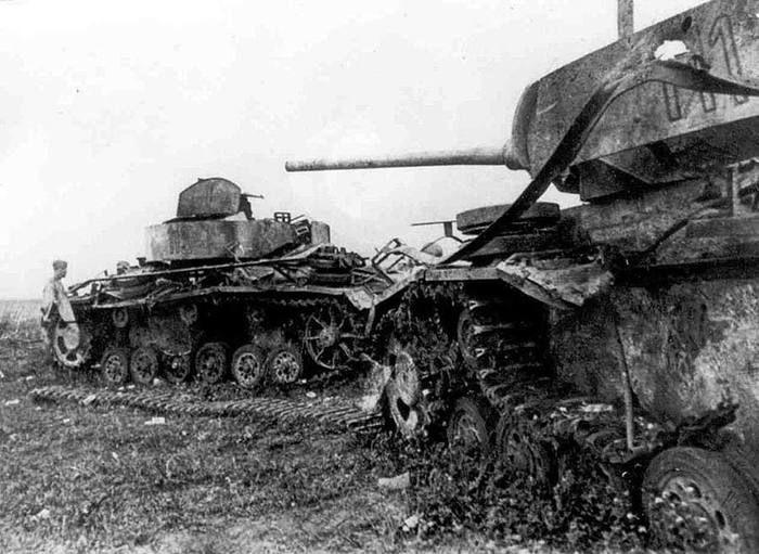 Поле боя под Прохоровкой.
