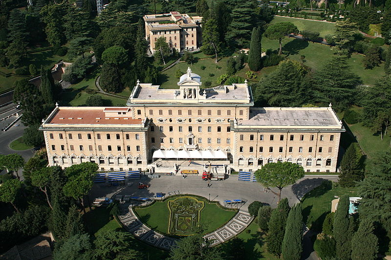 Дворец Governatorate Ватикана, который был поврежден бомбардировкой 5 ноября 1943 года.