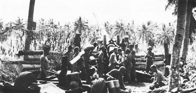 Позиции американских артиллеристов.