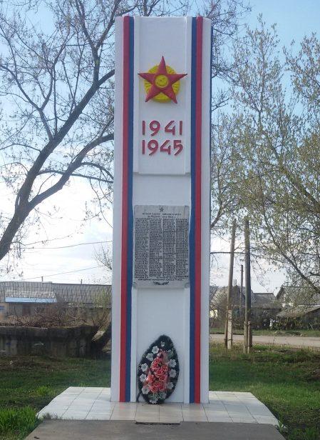д. Грицово Новомосковского р-на. Обелиск, установленный на братской могиле, в которой похоронены советские воины, погибшие в годы войны.