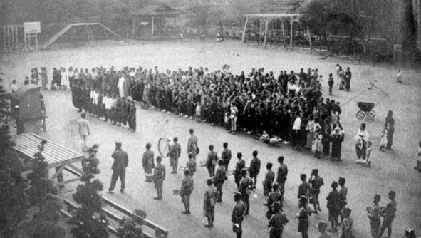 Проводы женщин на военную службу. Огаки 1941 г.