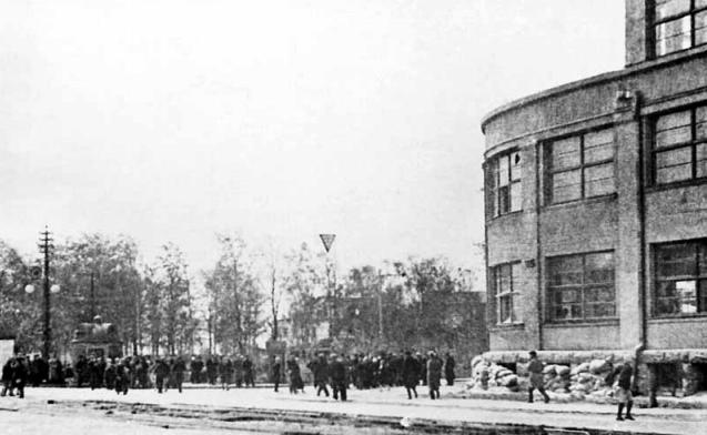 Городская улица. 1941 г.