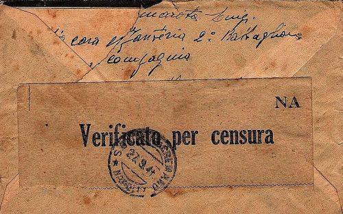 Корреспонденция со штампом о проверке цензурой.