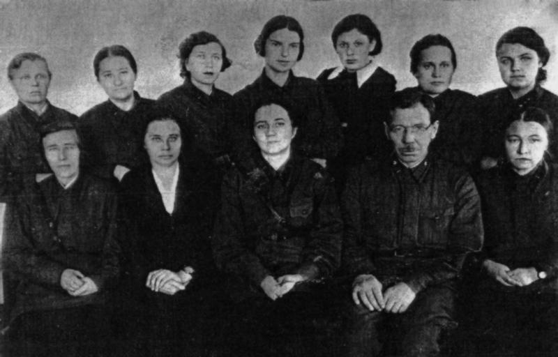 Сотрудники эвакогоспиталя №2524. 1941 г.