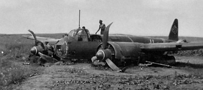 Сбитый «Юнкерс-88» под Луцком. 22 июня 1941 г.