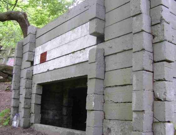 Артиллерийский сборный ДОТ под 76-мм полевое орудие в Щукино.