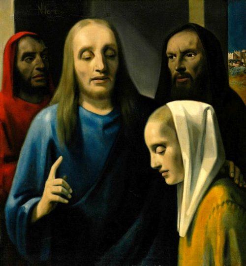 Поддельная картина Яна Вермеера Дельфтского «Христос и блудница».
