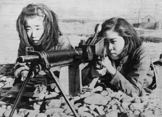 Стрелковая подготовка женщин. 1941 г.