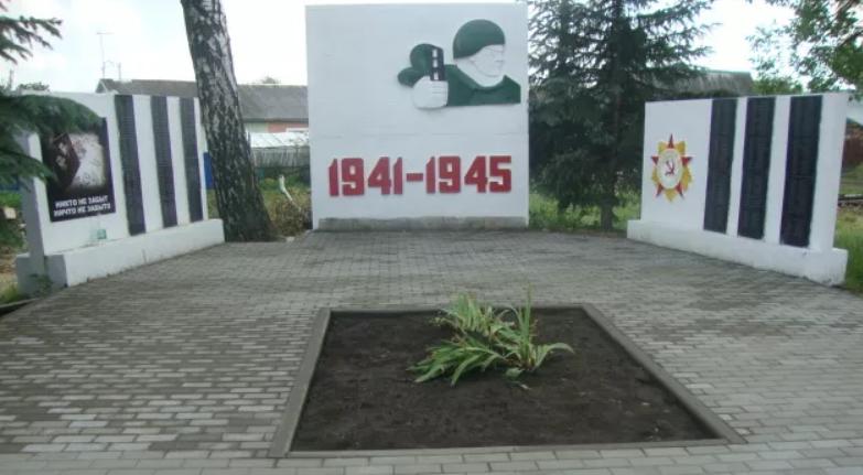 г. Донской, пос. Руднев. Памятник, установленный в 2005 году на братской могиле советских воинов, погибших в годы войны.