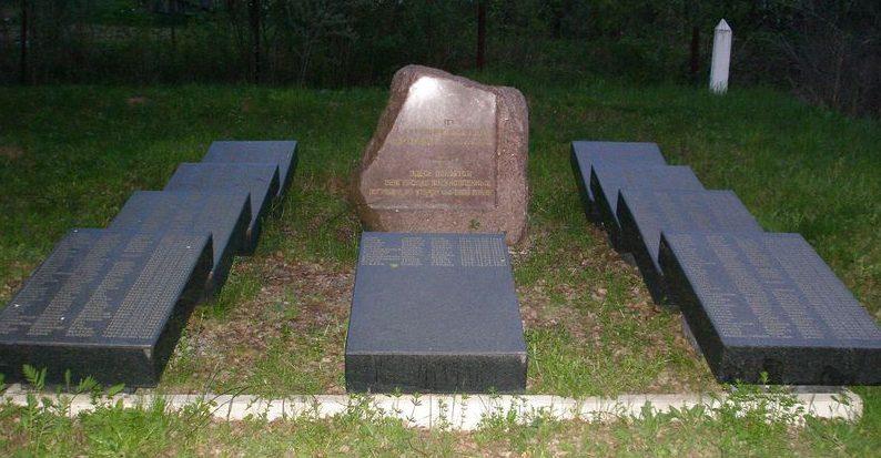 г. Алексин. Памятный камень на братском кладбище венгерских военнопленных.