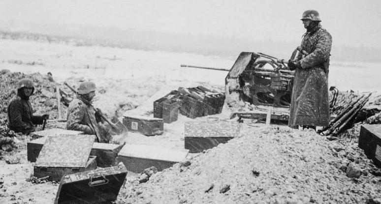 Немцы в обороне. Декабрь 1941 г.