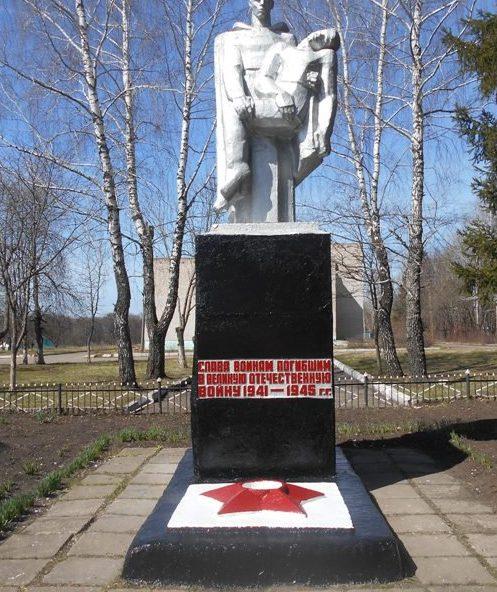 п. Центральный Тепло-Огаревского р-на. Памятник воинам, погибшим в годы войны.