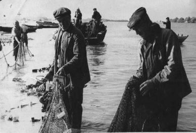 Рыбаки на Волге. 1942 г.