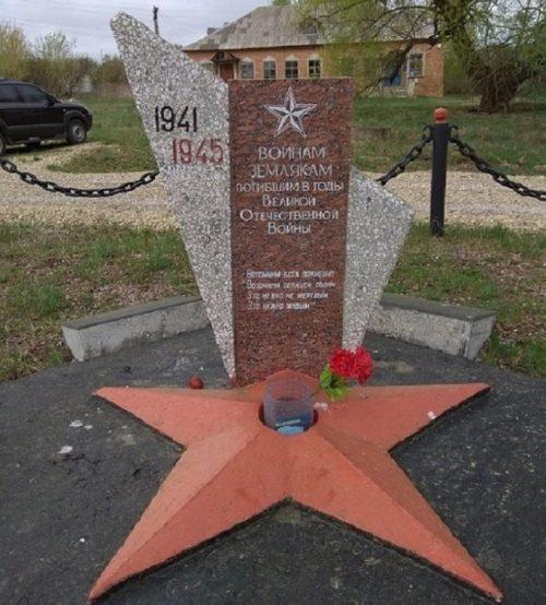 д. Вельмино Узловского р-на. Памятник, установленный в 1965 году односельчанам, погибшим в годы войны.
