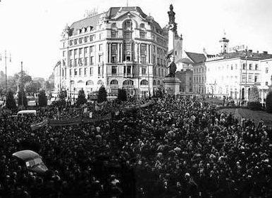 Освобожденный Ужгород. 1944 г.