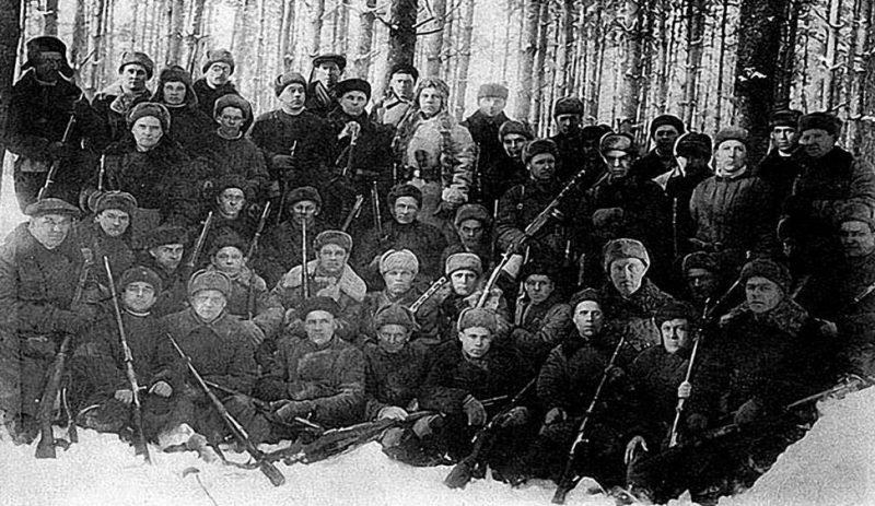 Тихвинские партизаны. Декабрь 1941 г.
