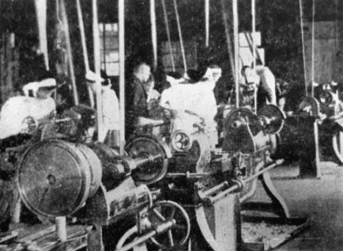 Работницы на фабрике в Мияги-но, Сендай. 1942 г.