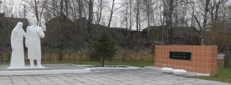 п. Поречье, ст. Упа Дубенского р-на. Памятник, установленный на братской могиле советских воинов, погибших в годы войны.