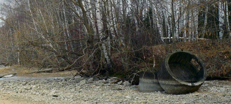 ЖБОТы вдоль Учинского водохранилища.
