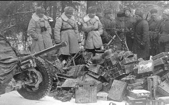 Захваченные трофеи. Декабрь 1941 г.