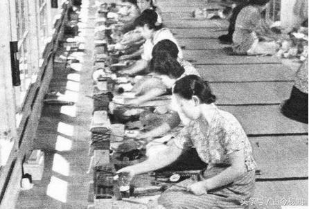 Женщины на заводе. Токио, февраль 1942 г.