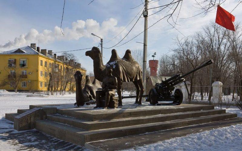 Общий вид памятника «Мы победили!»