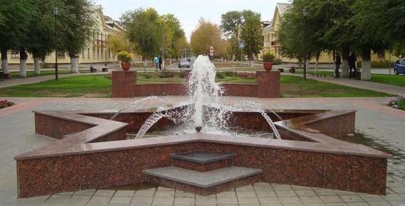 г. Ахтубинск. Фонтан «Звезда Победы».