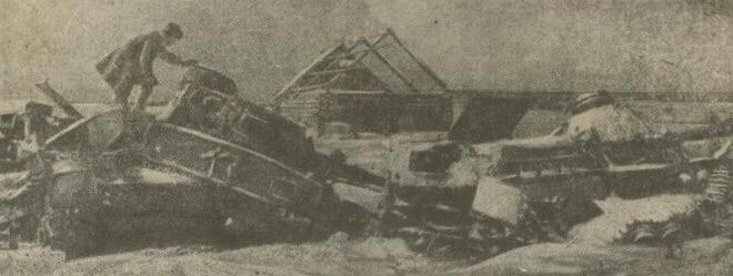 Развитые немецкие танки под Тихвином. Январь 1942 г.