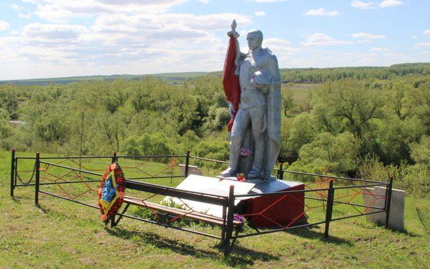 д. Бутырки Арсеньевского р-на. Памятник, установленный на братской могиле, в которой похоронены советские воины.