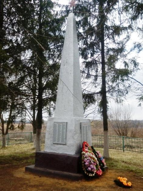 с. Архангельское Чернского р-на. Обелиск советским воинам, установленный в 1966 году.
