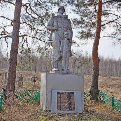 д. Дерюжкино Арсеньевского р-на. Памятник, установленный на братской могиле, в которой похоронены советские воины.