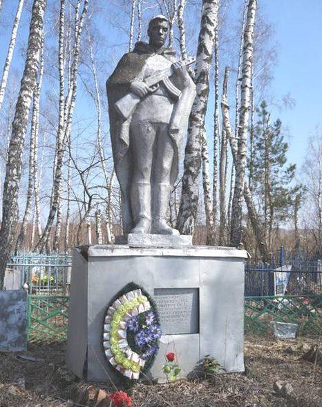 д. Колодези Арсеньевского р-на. Памятник, установленный на братской могиле, в которой похоронены советские воины.