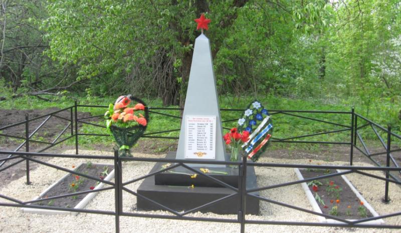 с. Велье-Никольское Чернского р-на. Обелиск, установленный на братской могиле, в которой похоронены советские воины.