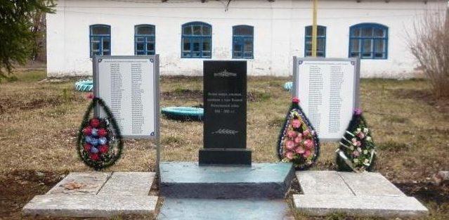 с. Велье-Никольское Чернского р-на. Обелиск, установленный в 1966 году на братской могиле, в которой похоронены советские воины.