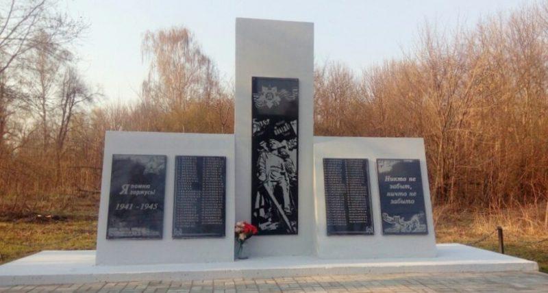 д. Кочергинка Ефремовского городского округа. Памятник, погибшим односельчанам.