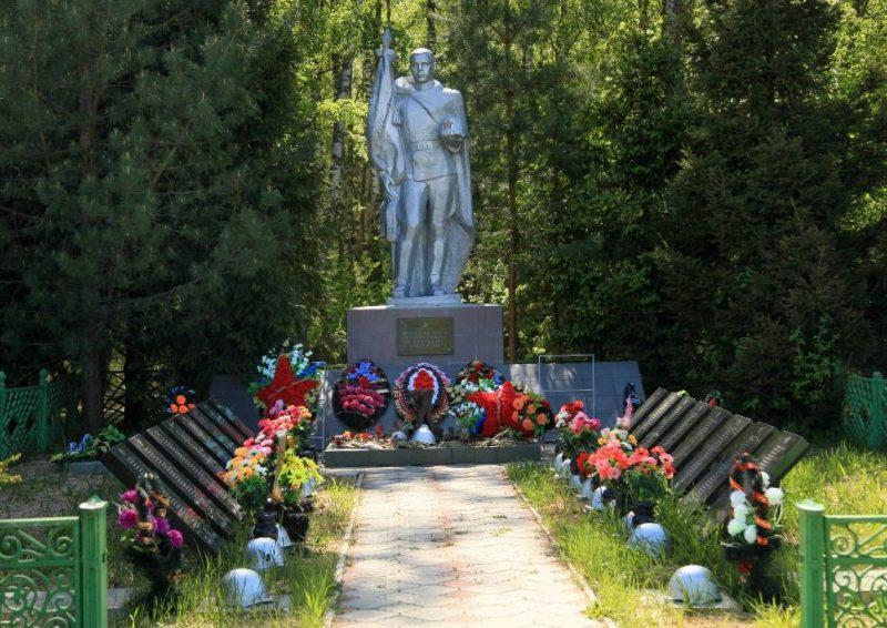 п. Красный Арсеньевского р-на. Памятник, установленный на братской могиле, в которой похоронены советские воины.